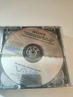 Sony Vaio Recovery Cd Rom Vol 1-3 For Pcg -fx401 /pcg-fx405 • 9.99£
