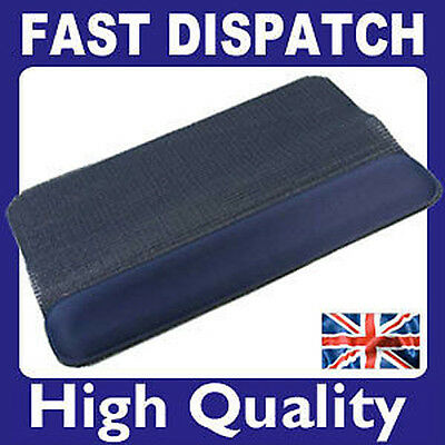 Quality Comfort Wrist Rest With Non Slip Keyboard Mat - Not Gel BLUE (NEW) • 2.95£