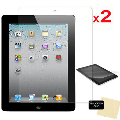 2 Pack Of Apple IPad 4 4th GEN 9.7  CLEAR Screen Protector Guard & Cloth • 2.49£