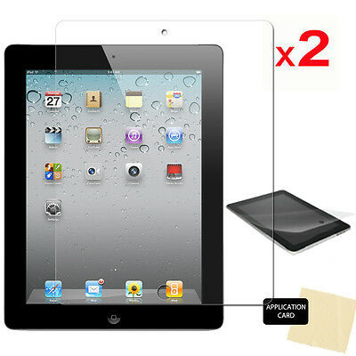2 Pack Of Apple IPad 4 4th GEN CLEAR Screen Protector Guard & Cloth • 2.49£