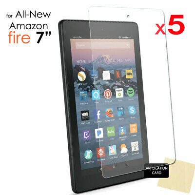 5x Screen Protector Cover For Amazon Fire 7  9th / 7th Generation 2019 / 2017 • 3.95£