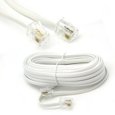 15m Meter RJ11 To RJ-11 ADSL Broadband Internet Router Modem DSL Phone Cable UK • 3.25£