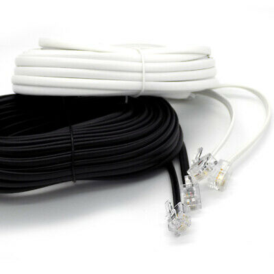 2m Up To 25m Meter RJ11 To RJ11 Cable ADSL Phone Line Broadband Lead Best Price! • 3.75£