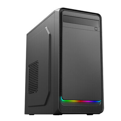 AEROCOOL Mid ATX Gaming PC Case Glossy Front Panel USB 3.0 8cm Rear Fan • 26.95£