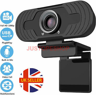 Full HD 1080P Webcam With Microphone MIC USB For PC Desktop Laptop NEW UK Stock • 16.95£