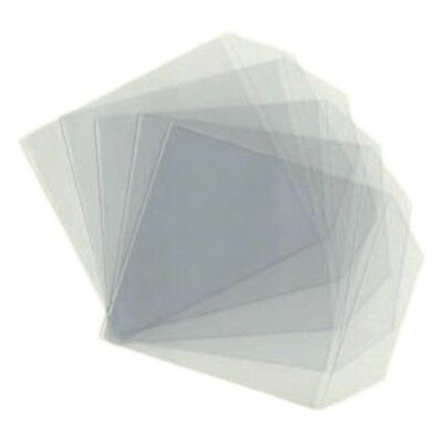 100 X High Quality CD DVD Clear Plastic Sleeves Wallet Bags 80 Micron • 4.57£