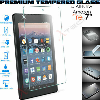 100% TEMPERED GLASS Screen Protector For Amazon Fire 7  7th / 9th Gen 2019 /2017 • 4.95£