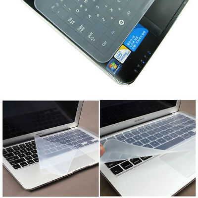 Universal Silicone Keyboard Cover Skin Protector For 13   Laptop UK Seller • 1.49£