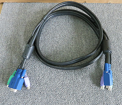 KVM Switch Cable VGA 15 Pin Male PS/2 To VGA 15 Pin Male PS/2  • 24£