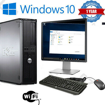 Dell/hp Dual Core Desktop Tower Pc & Tft Computer System Windows 10,4gb,250gb • 69.95£