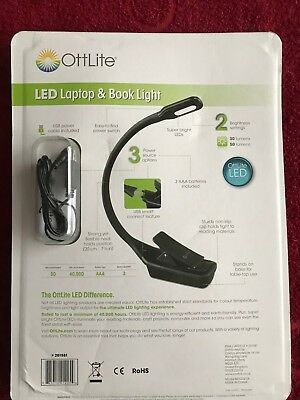 OffLite LED  Laptop & Book Light USB Smart Connect Or Batteries ,USB Cable  • 4.99£