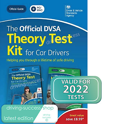 2021 Official DVSA Car Theory Test Kit For PC And Mac REVISED EDITION  • 14£