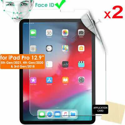 2x ULTRA CLEAR LCD Screen Protector Cover For Apple IPad Pro 12.9  2020 / 2018 • 2.79£