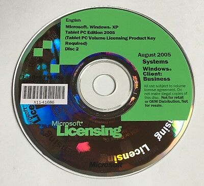 Microsoft Licensing 2005 Systems Windows Client: Business E85-02839 Windows XP • 37.86£