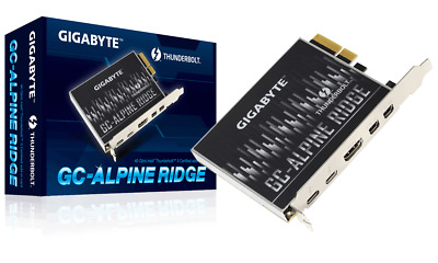 GIGABYTE GC-ALPINE RIDGE (Rev 2.0) Thunderbolt3 Certified PCI-E Expansion Card • 64.99£