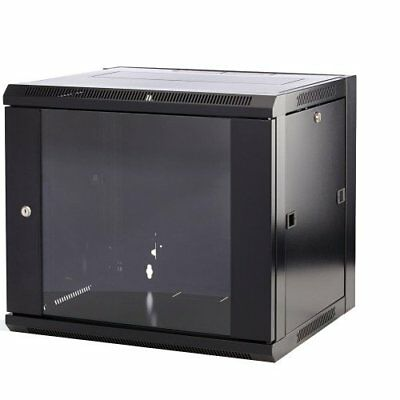 WB9.390SG-BK - 9U 19  Inch 390mm Deep Wall Mounted Data/network/comms Cabinet • 83.99£