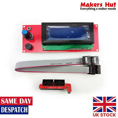 2004 LCD Controller With SD Card Slot For Ramps 1.4 - Reprap 3D Printer Display • 9.49£