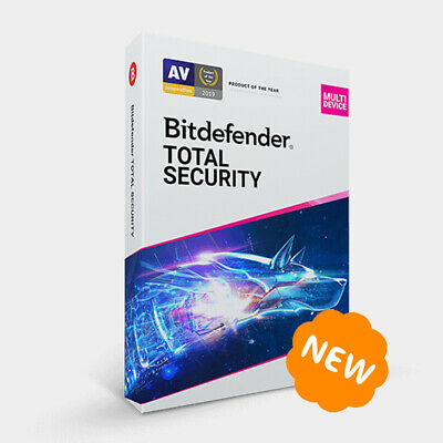 Bitdefender Total Security Multi-Device 2021 / 2020 - 5 Devices 1 Year • 16.35£