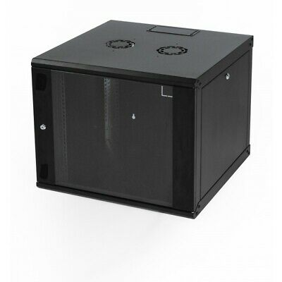 12U 600mm Black Wall Cabinet Network Data Rack For Patch Panel, PDU & LAN Switch • 114.99£