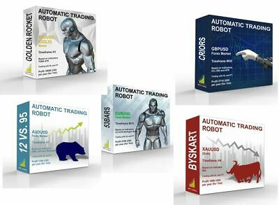 Five Automatic EA Forex Trading Robot Mt4 Profit Strategy Professional System • 50£