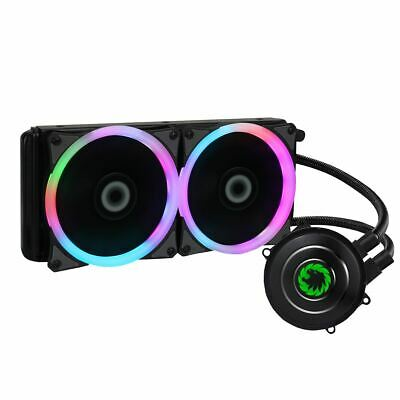 Game Max Iceberg 240mm CPU Water Cooler Liquid Cooling System Kit 2x LED PWM Fan • 49.99£