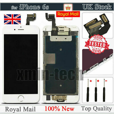 For IPhone 6S White Screen Replacement Digitizer LCD Touch Home Button Display • 17.92£