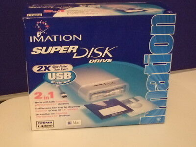 Imation SD-USB-M2 Super Disk Drive For Mac New In Box • 68.99£