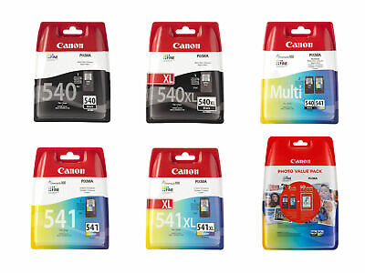 Canon PG540XL PG540 Black CL541XL CL541 Colour Ink Cartridges For PIXMA MG3650 • 18.95£