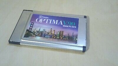 Hayes Optima V.90 56K Global PC Card, Used, Pulled From Working Machine. Vintage • 12.99£
