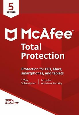McAfee Total Protection 2020, 5 Multi-Devices, 1 Year (LATEST DOWNLOAD VERSION)  • 8£