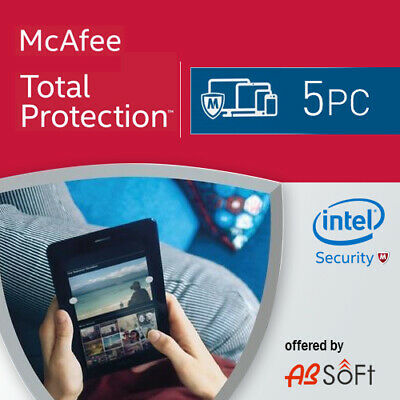 McAfee Total Protection 2021 5 PC 1 Year 1 User 2020 UK • 9.99£