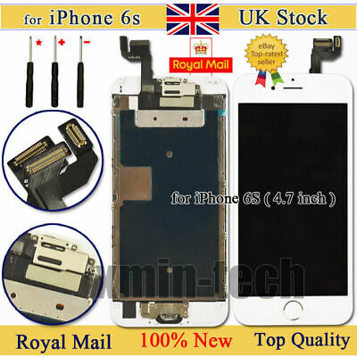 White For IPhone 6s 4.7  Screen Digitizer Replacement Touch LCD Home Button UK • 17.83£