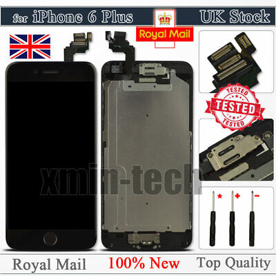 Black For IPhone 6 Plus Screen Replacement LCD Touch Digitizer Button Camera UK • 17.92£