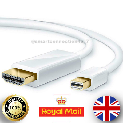 1.8M Mini DP Display Port Thunderbolt To HDMI Cable Adapter For MacBook Pro IMac • 3.99£