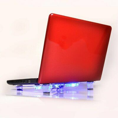 10 -15  Laptop Cooling Pad Blue LED Notebook 3 Fan USB Cooler Stand Tray • 9.97£