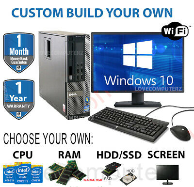 DELL/HP I5 QUAD DESKTOP TOWER PC & TFT COMPUTER SET 16GB WINDOWS 10 HDD & SSD • 184.99£