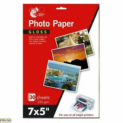 7x5 In Chiltern Wove 20 Sheets High Quality Gloss Photo Paper 235gsm UK SELLER • 3.45£