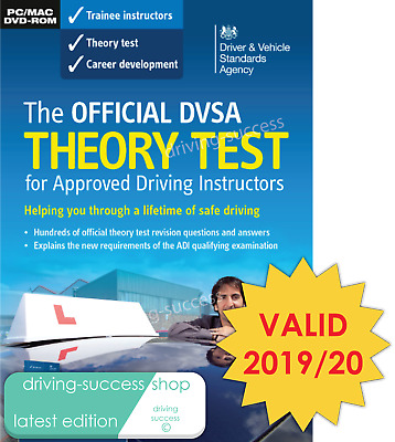 DVSA Theory Test DVD-ROM For Driving Instructors ADIs PDIs  2019/20 Valid • 13.50£