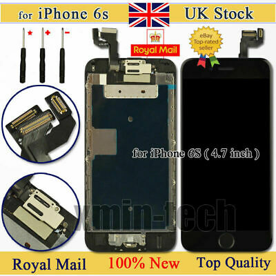 Black For IPhone 6s 4.7  Screen Digitizer Replacement Touch LCD Home Button UK • 15.93£
