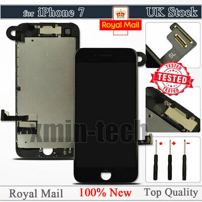 For IPhone 7 Black Screen 4.7  LCD 3D Touch Display Digitizer Replacement Camera • 19.92£