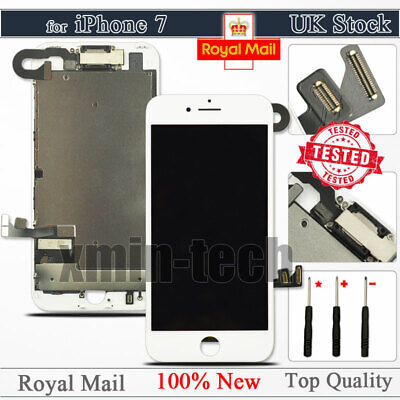 For IPhone 7 White Screen 4.7  LCD 3D Touch Display Digitizer Replacement Camera • 19.92£