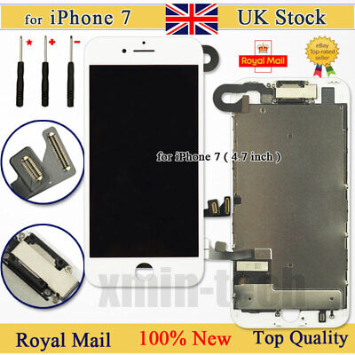 For IPhone 7 Retina Screen Replacement LCD Display Touch Digitizer Camera White • 19.92£