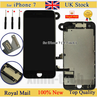 For IPhone 7 Retina Screen Replacement LCD Display Touch Digitizer Camera Black • 20.93£