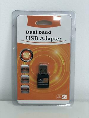 600Mbps Wireless Dual Band USB WiFi Dongle LAN Adapter 802.11ac/a/b/g/n 5/2.4Ghz • 6.33£