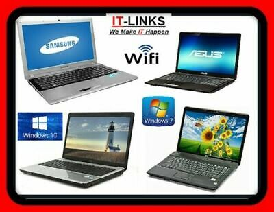 CHEAP FAST DUAL CORE LAPTOP WINDOWS 7 Or 10 OS, 2GB 3GB 4GB RAM WITH WARRANTY • 149.99£