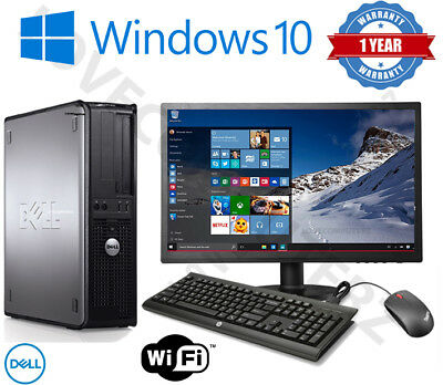 Dell/hp Dual Core Desktop Tower Pc & Tft Computer System Windows 10,8gb,250gb • 89.95£