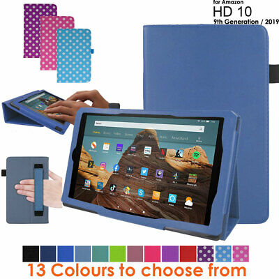 For Amazon Fire HD 10 2019 9th Generation Leather Flip Case Stand Cover • 7.95£