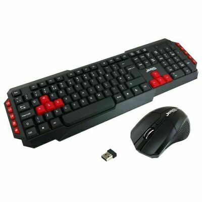 JEDEL 2.4Ghz Wireless Combo Keyboard And Mouse Bundle Set PC Laptop UK Layout • 11.99£