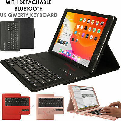 For Apple IPad 10.2  8th / 7th Gen. UK QWERTY Keyboard + PU Leather Stand Case • 23.95£
