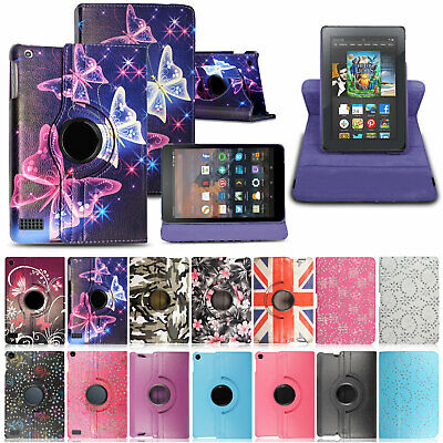 Case Cover For Amazon Kindle Fire 7  10  9th Generation 2019 Leather Smart Flip • 4.99£